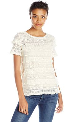 Joie Women's Rafelfringe Lace, Natural, Medium Best Price
