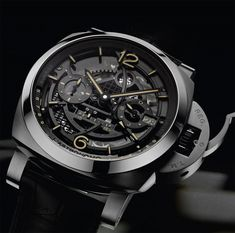 Panerai L'Astronomo Luminor 1950 Tourbillon Moon Phases Equation Of Time GMT Watch