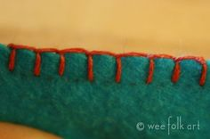Blanket Stitching - Part 2 - Blanket Stitching a Straight Line | Wee Folk Art