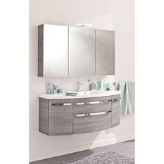 Armoire de toilette Image gris, L130xH72xP17 cm