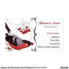 Elegant Bird Business Card Template