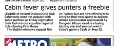 Cabinteely in the news! Cabin Fever, News Articles, Club