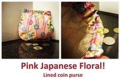 Pink Japanese Floral! Coin Purses, Louis Vuitton Speedy Bag, Japanese, Floral, Pink, Bags, Collection, Coin Wallet, Handbags