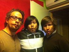 Oscar Perez o Machupichu junto a Guillermo Maestro de Imagine the Music. Un placer chicos!