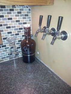 Beer taps in the kitchen... I doubt that will be approved...