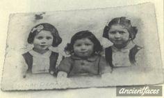 Esther Poznanski (right) Berthe Poznanski (left) Albert Pozanski (middle) taken in Paris, France in 1942. (All three were murdered in Auschwitz in 1942 at age 6, 4 and 2)