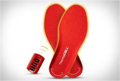 REMOTE CONTROLLED HEATED INSOLES. Cold feet are not fun, and with cold weather around the corner these remote controlled heated insoles are just what I need. The Thermacell foot warmers keep feet comfortably warm, and are controlled by a wireless remote control! The heated insoles use high tech wireless thermal technology, this means no batteries, wires, straps or cords.