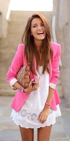 粉色西裝外套!!