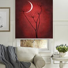 Silent Flower And Crescent Roller Shade – USD $ 39.99