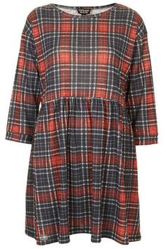 Red Check Smock Dress - Dresses  - Clothing