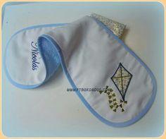 Babita personalizada para bebe de ft bordados