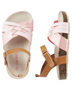 Baby Girl Carter's Strappy Sandals from OshKosh B'gosh. Shop clothing & accessories from a trusted name in kids, toddlers, and baby clothes. Little Girl Shoes, Cute Baby Shoes, Baby Girl Shoes, Little Girl Fashion, My Baby Girl, Toddler Fashion, Baby Love, Girls Shoes, Kids Fashion