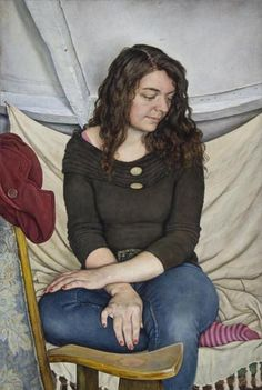 "Michael Taylor (British, born 1952) ""Young Woman with Crossed Hands"", 2009"