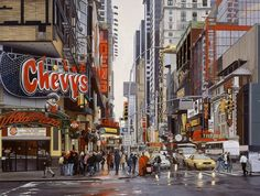NYC. Street scene, oil on linen // Nathan Walsh, Contemporary British Realist Painter