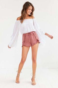 #ootd #shorts #offtheshoulder #summer