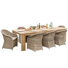 Toulon Table with 8 Verdun Chairs Package