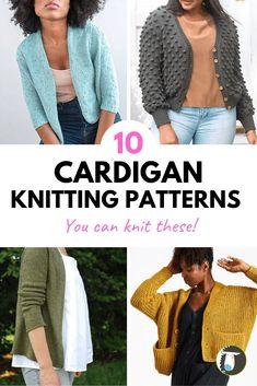 10 Beautiful Sweater Cardigan Knitting Patterns - You can knit and wear these sweaters year round! Sport Weight Yarn, Dk Weight Yarn, Sweater Knitting Patterns, Knit Patterns, Knitting Ideas, Knit Picks, Stockinette, Knit Fashion, Sweater Weather