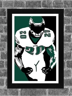 Philadelphia Eagles Brian Dawkins Portrait Sports Print Art 11x17