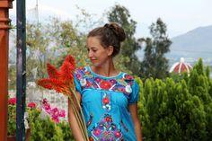 Entdecke lässige und festliche Kleider: Minikleid FLORIDA, XL, mexikanische Mode made by ModaFrida - Ethnic Fashion via DaWanda.com