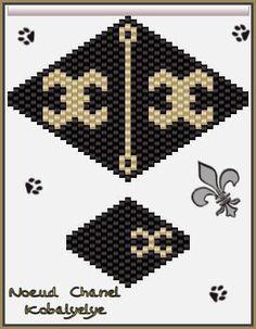 """Je vais et vous allez devenir """"NoeudNoeud"""".... - Le monde des perles de Kobalyelye Peyote Patterns, Seed Bead Patterns, Jewelry Patterns, Beading Patterns, Beaded Anklets, Beaded Rings, Beaded Jewelry, Beaded Necklace, Beaded Brooch"""