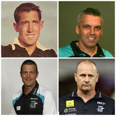 Port adelaides senior coaches since it entered the AFL national competition …Cahill,Williams,Primus and current coach Ken Hinkley Men's Football, I Icon, Crows, Coaches, Competition, Club, Baseball Cards, Sports, Sport