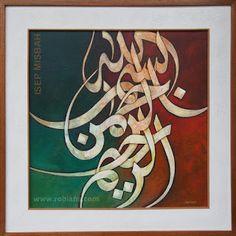 Basmalah - Lukisan Kaligrafi karya Isep Misbah