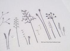 Wild Grass modern hand embroidery pattern par KFNeedleworkDesign