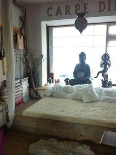 Buddha Themed Meditation Room Inspiration   InMySacredSpace.com   #InMySacredSpace