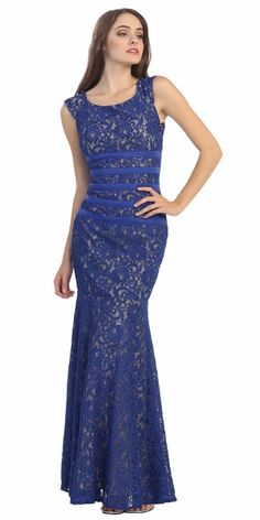 Two Tone Lilac Ivory Overlay Lace Dress Mermaid Wide Strap Royal Blue Lace Dress, Royal Blue And Gold, Lace Mermaid, Mermaid Dresses, Dress Skirt, Dress Up, Maxi Skirts, Beautiful Long Dresses, Beautiful Ladies
