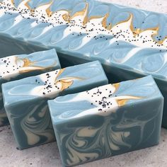 A new look for Amber.. I love this shade of blue. #sensuallysoaps  Really gorgeous soap!