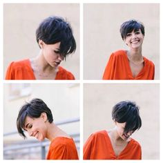 60 Awesome Pixie Haircut For Thick Hair 22 Cute Hairstyles For Short Hair, Pretty Hairstyles, Short Hair Cuts, Short Hair Styles, Pixie Cuts, Cut My Hair, Her Hair, Corte Y Color, Sassy Hair