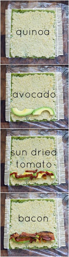 Avocado Sushi Filling ( i am SO doing this without the swine!)