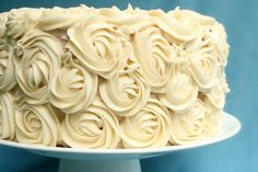Easy Frosted Ombre Rose Cake