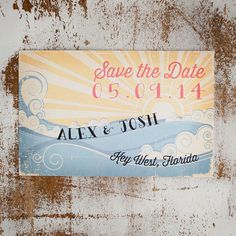 Rustic Beach Save the Date Card Nautical Save the by inoroutmedia, $2.60