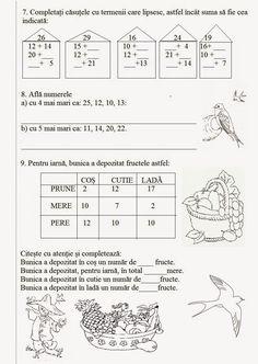 Lumea lui Scolarel...: M.E.M: Adunarea numerelor 0-30 fără trecere peste ordin Math For Kids, Geo, Classroom, Words, Class Room, Horse