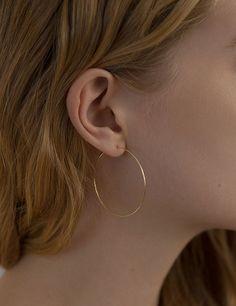 Hoop Earring, Medium | Kathleen Whitaker