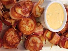 about Bacon Wrapped Scallops on Pinterest | Scallops, Seared Scallops ...