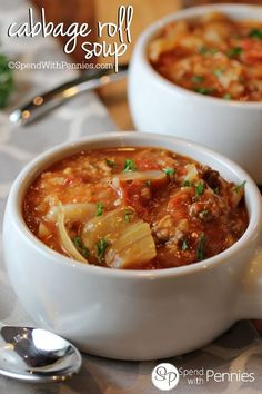 Cabbage Roll Soup! A delicious and hearty soup, perfect for a cool evening!