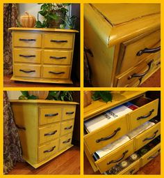 refinish a old night stand or little dresser. I love this idea.