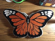 Butterfly string art that I made 😬 New Crafts, Crafts To Do, Arts And Crafts, Nail String Art, String Crafts, Arte Linear, String Art Patterns, Creative Box, Thread Art
