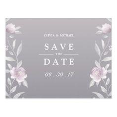 #savethedate #postcards - #Elegant floral Chinoiserie Wedding save the date Postcard