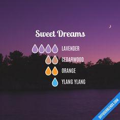 Blend Recipe: 4 drops Lavender, 2 drops Cedarwood, 2 drops Orange, 1 drop Ylang Ylang