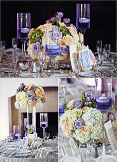 Pretty color combo and it would look beautiful in the ballroom at the Biltmore.