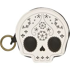LOUNGEFLY LACE SKULL COIN BAG
