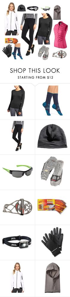 Winter running must haves by thealmostproject on Polyvore featuring Asics, Athleta, Smartwool, Cuddl Duds, SunCloud Polarized Optics, Yaktrax, Petzl and NIKE