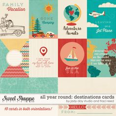 All Year Round: Destinations Cards by Traci Reed and Jady Day Studio - Save 20% June 27th only!