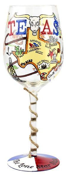 Texas Wine Glass by Top Shelf