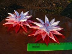 Ribbon Flower With Large Pointed Petals (Satin) ~ ?
