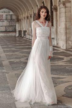 Когда богема выходит замуж: свадебные наряды от Divine Atelier 2017 в Свадебном блоге VEIL&TIE