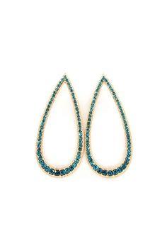 Teal Teardrop Earrings on Emma Stine Limited